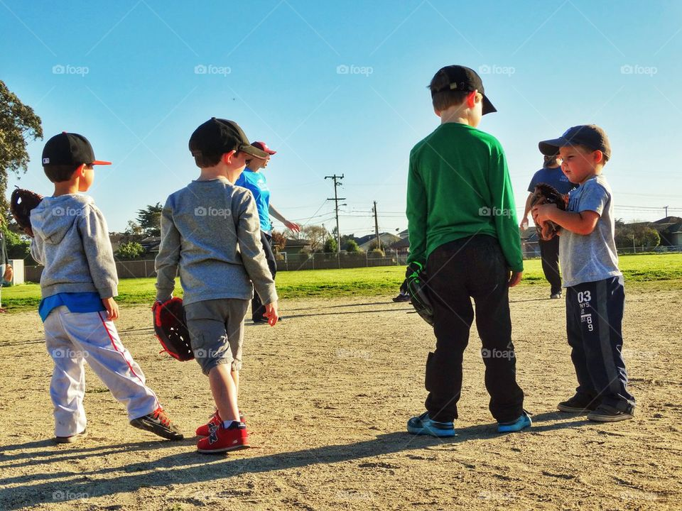 Young Baseball Players