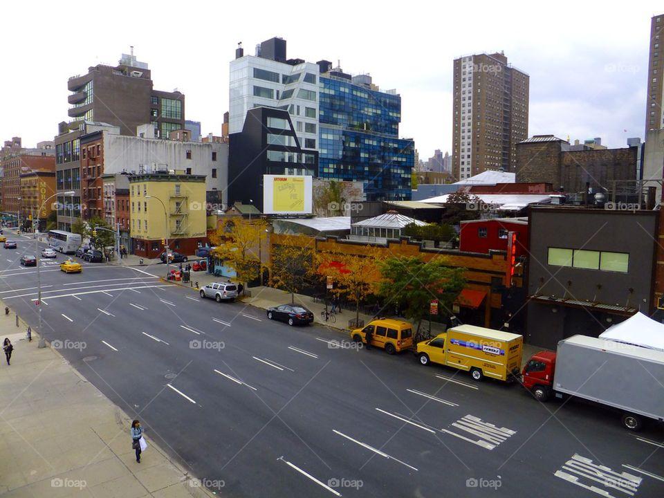 NEW YORK CITY HIGH LINE  PARK CITY VIEW