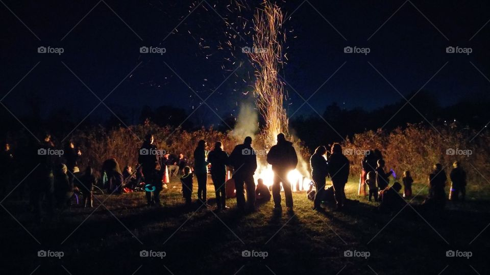 fall fest. bonfire, blue bell, pa