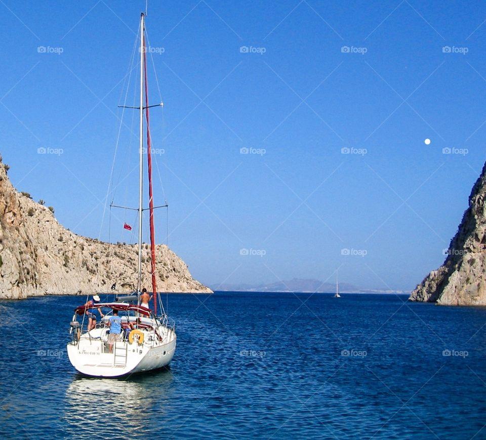 Sailing in Greece.