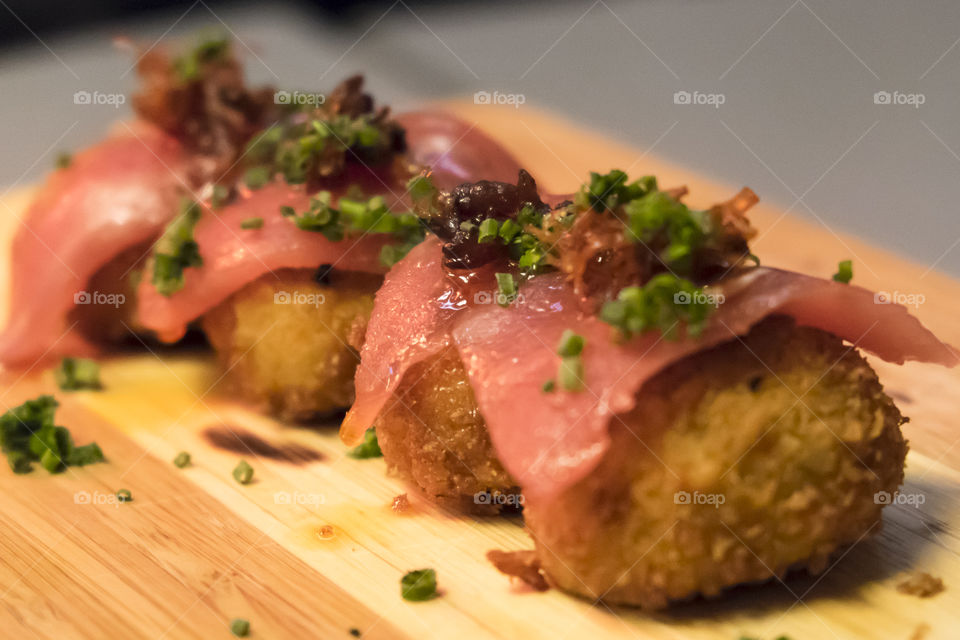 croquettes with red tuna