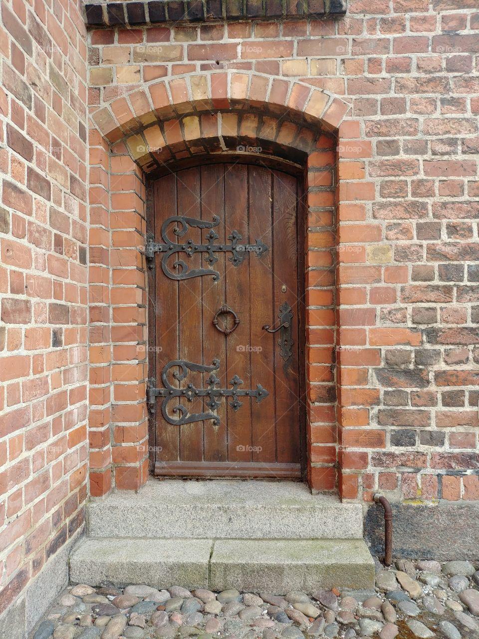 Tür alt holz Kirche steine Treppe