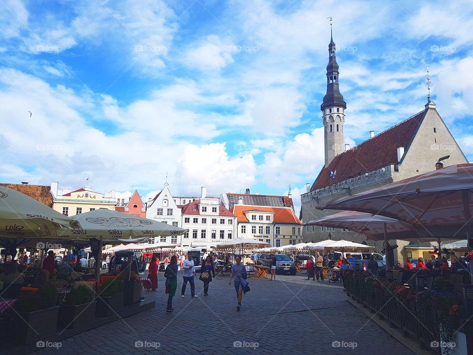 In the centre of Tallinn