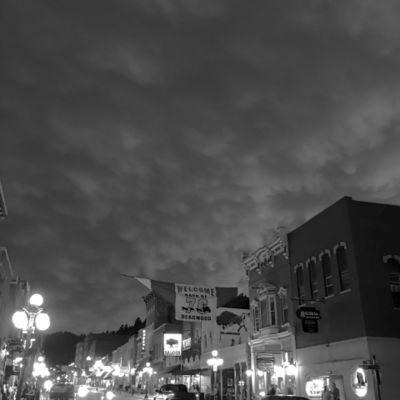 Days of 76 in Deadwood, South Dakota with mammantus clouds overtaking the town!