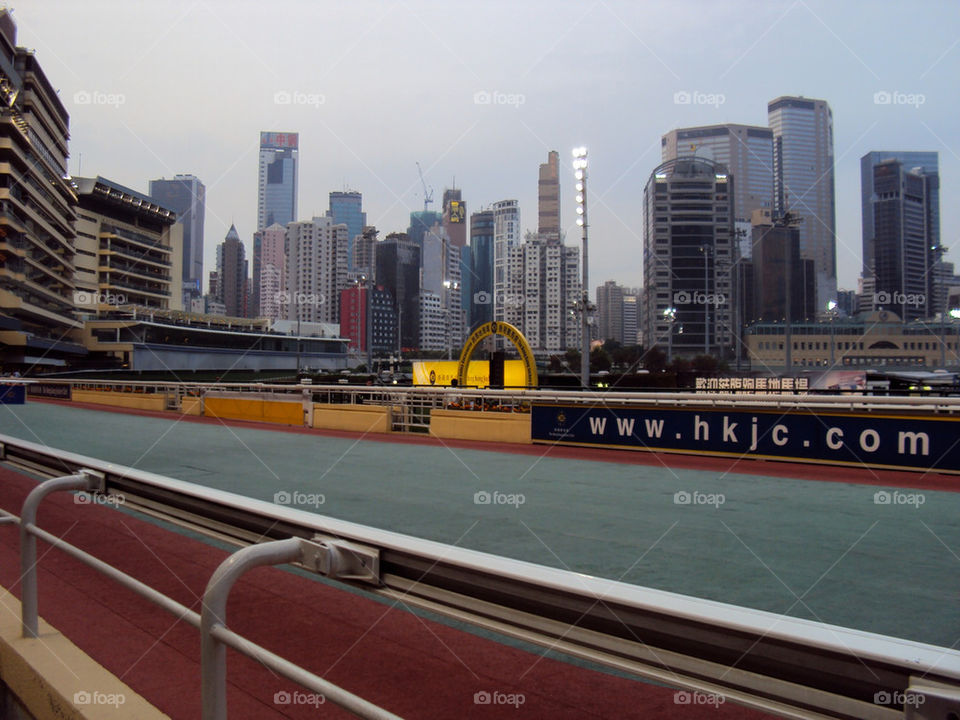 The famous Hong Kong Race Track in Happy Valley.