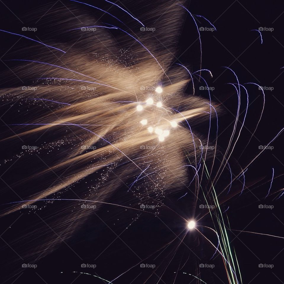 Low angle view of firework