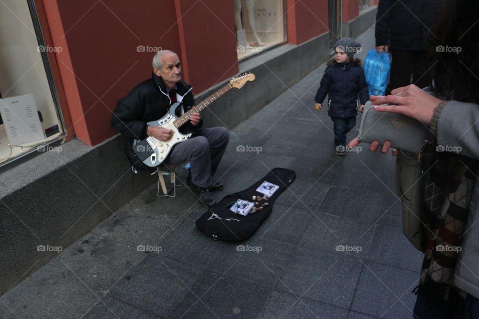 People, Music, Adult, Group, Street