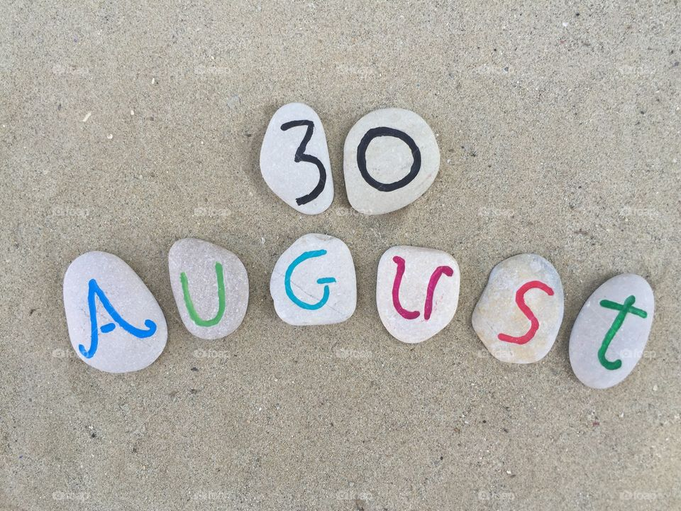 30th August on carved stones
