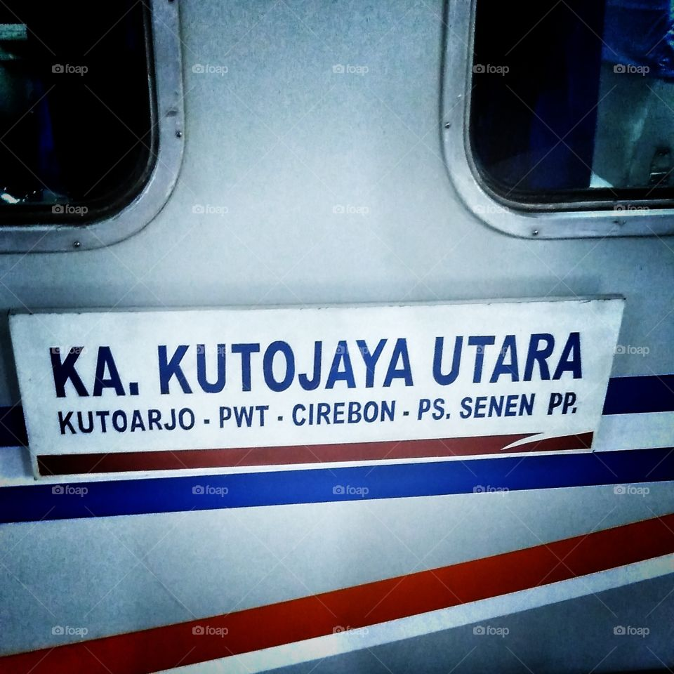 Indonesian railway to purwokerto central java
