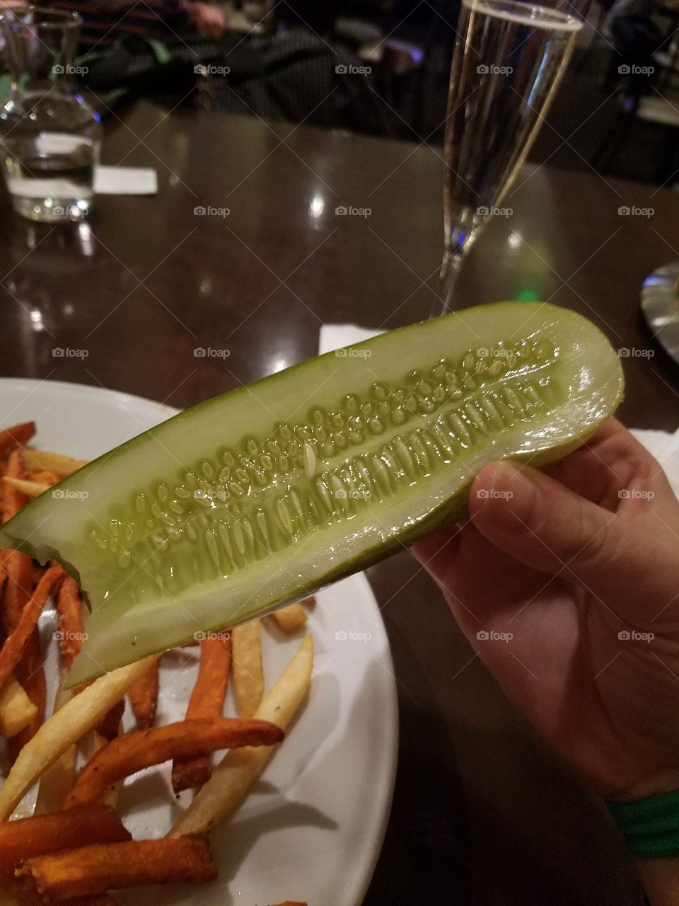 eating a pickle