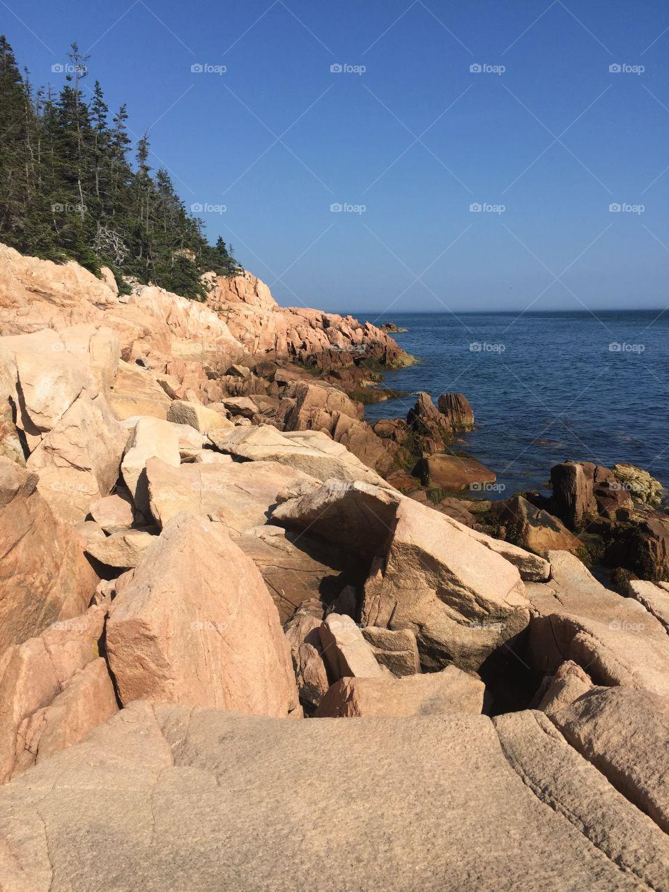 Ocean cliff at Acadia National Park