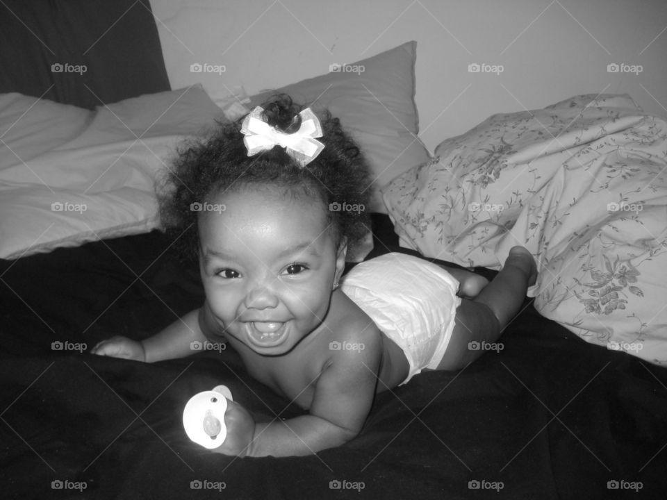 Happy Baby Black and White