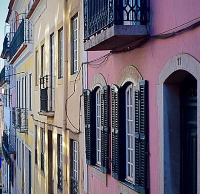 Colourful houses of Portugal