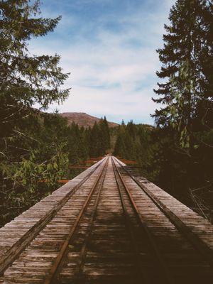 Wooden rail track
