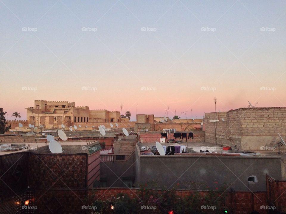 Sunset it the Medina