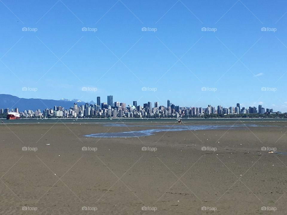 Vancouver  viewed from Spanish Banks