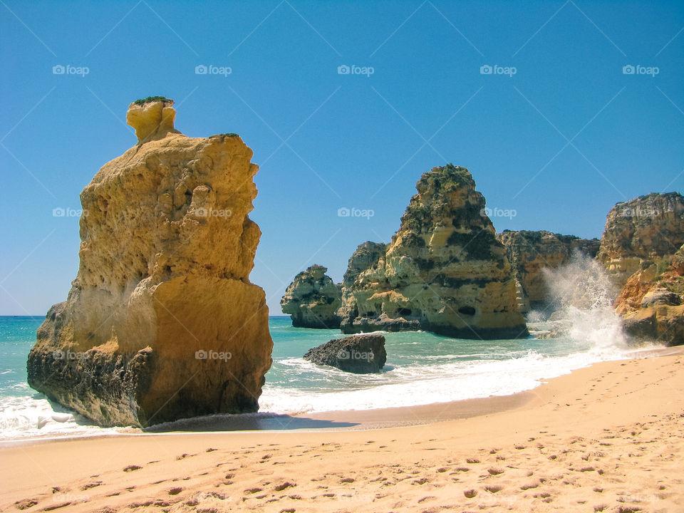 Praia da Marinha beach at the Algarve, Portugal
