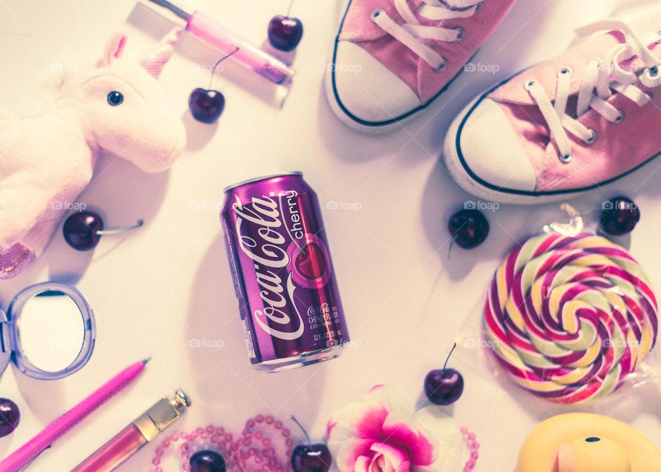 Cherry Cola Flat Lay II