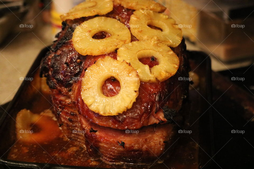 Pineapple and Clove Ham
