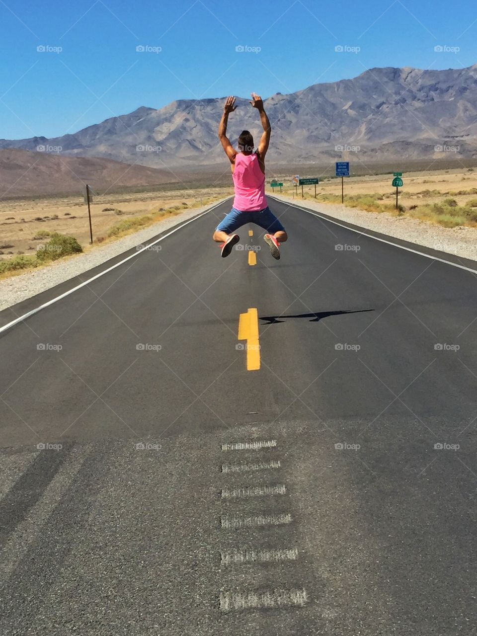 Big jump in the road