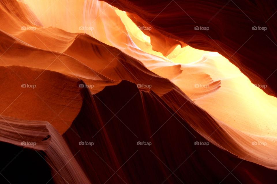 Light effect in antelope canyon,Arizona
