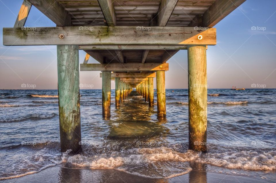 Low angle view of a pier