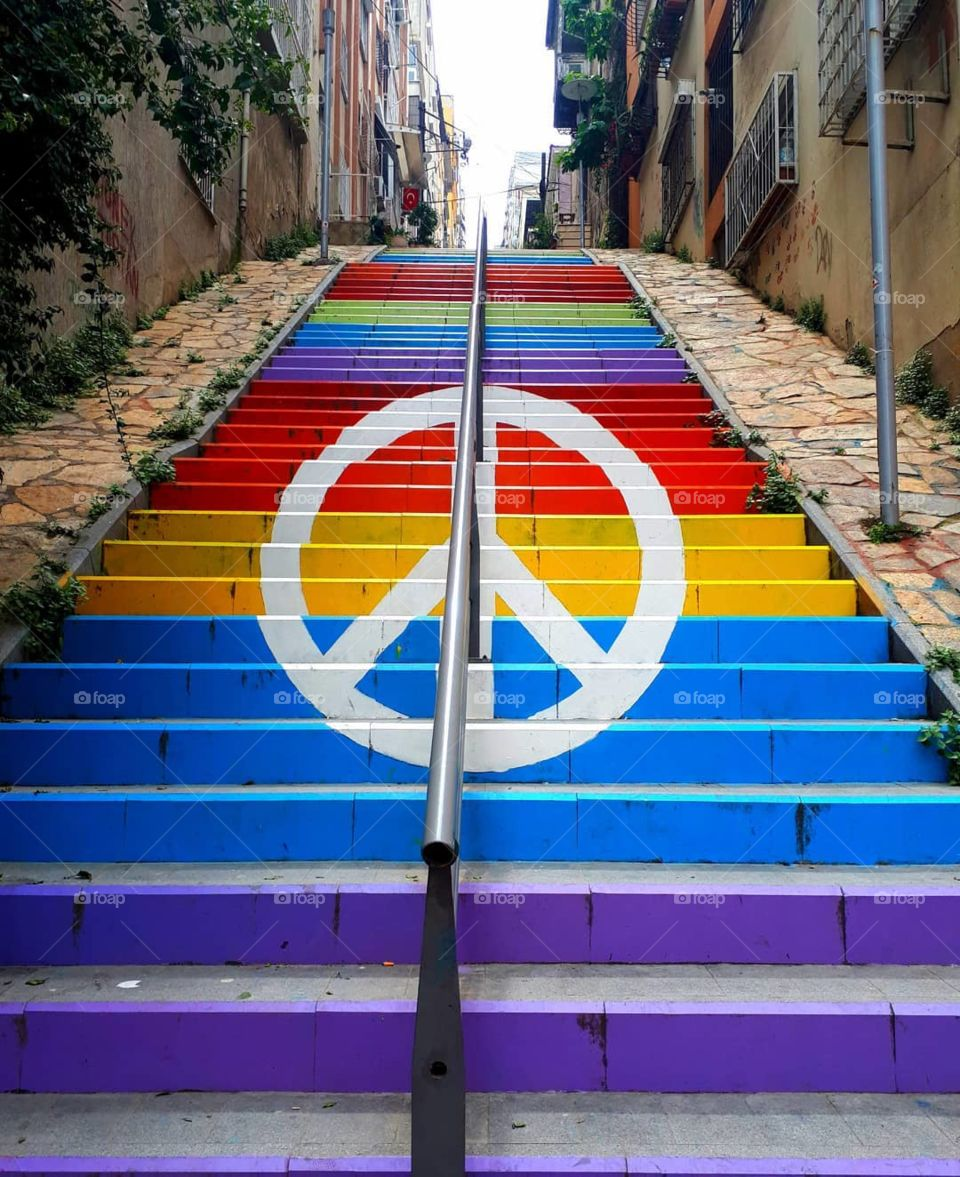 colored road in Izmir