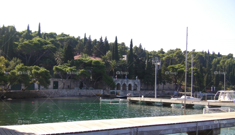 cavtat croatia bay at cavtat look closely there is a swimmer near the boat by pawright68