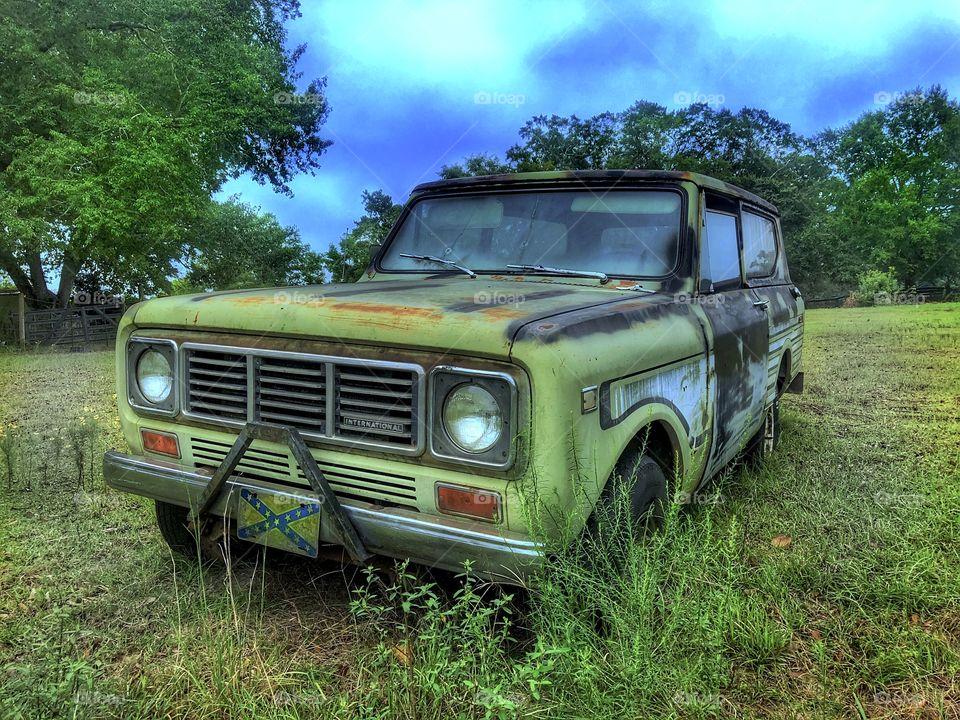 Abandoned International Scout