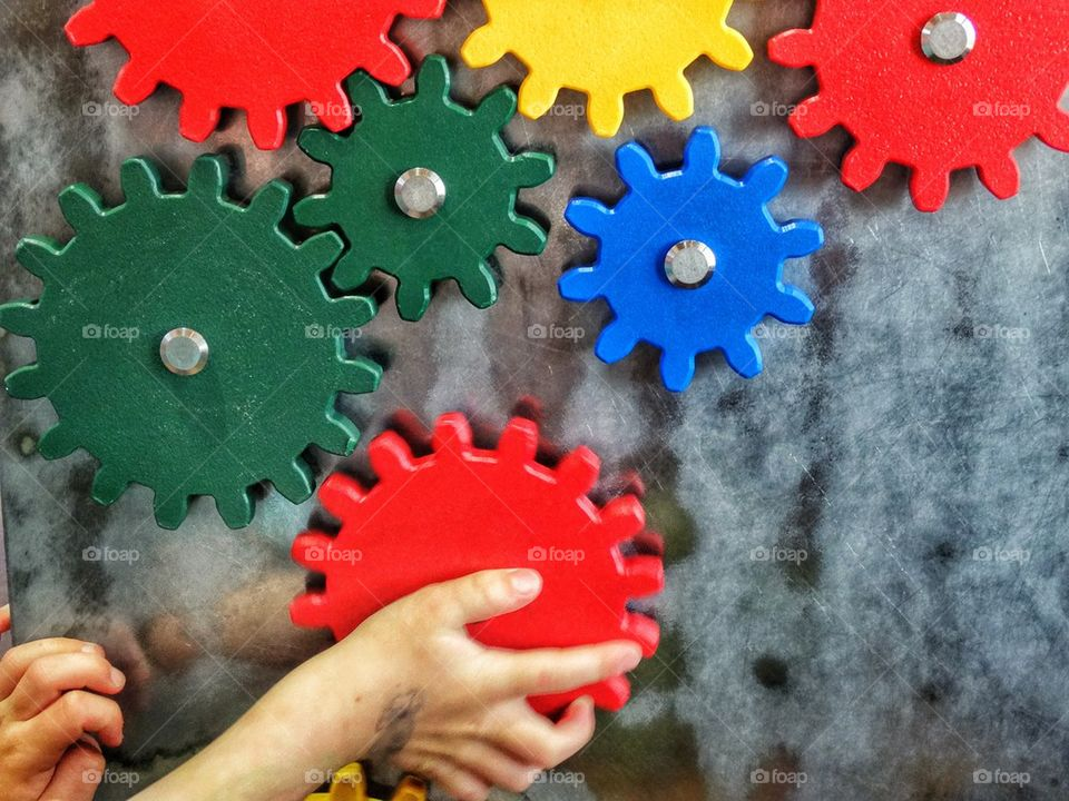 Colorful Mechanical Gears