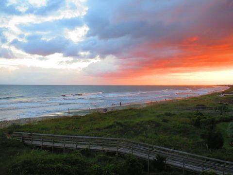 Sunset Sky. Beach sunset near Charleston