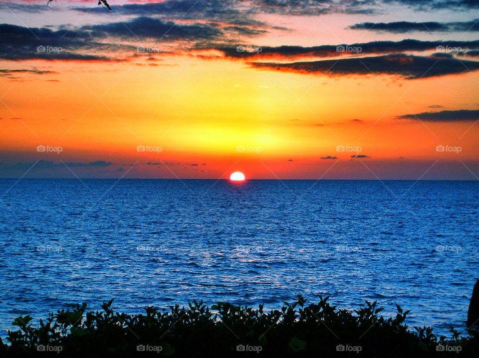 Sea against dramatic sky