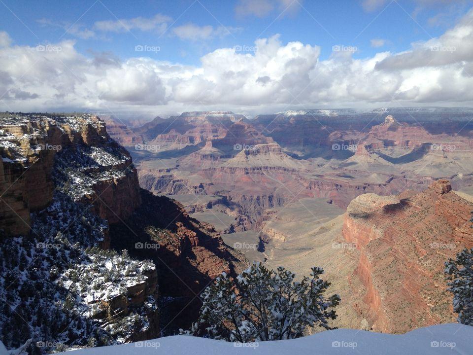 Grand Canyon summit. Grand Canyon summit snow day