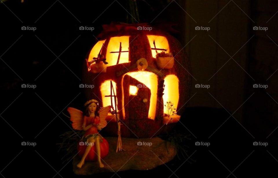Fairytale pumpkin house