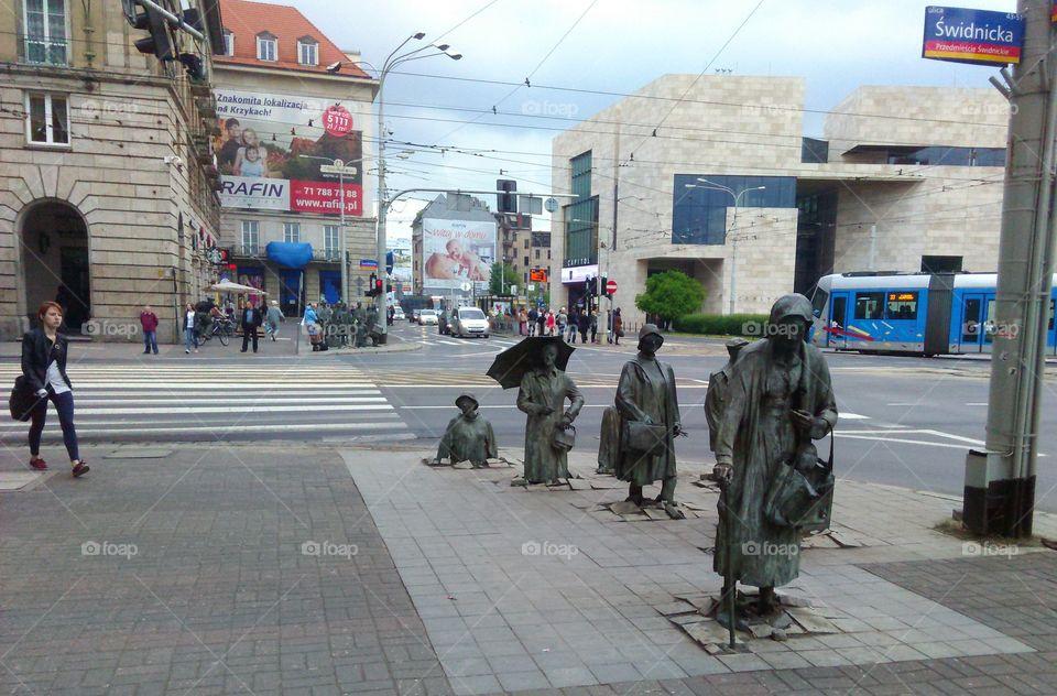 underground people. photo taken in Wroclaw city