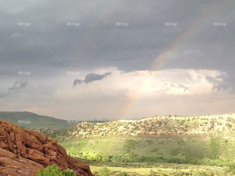 Rainbow Over Red Rocks