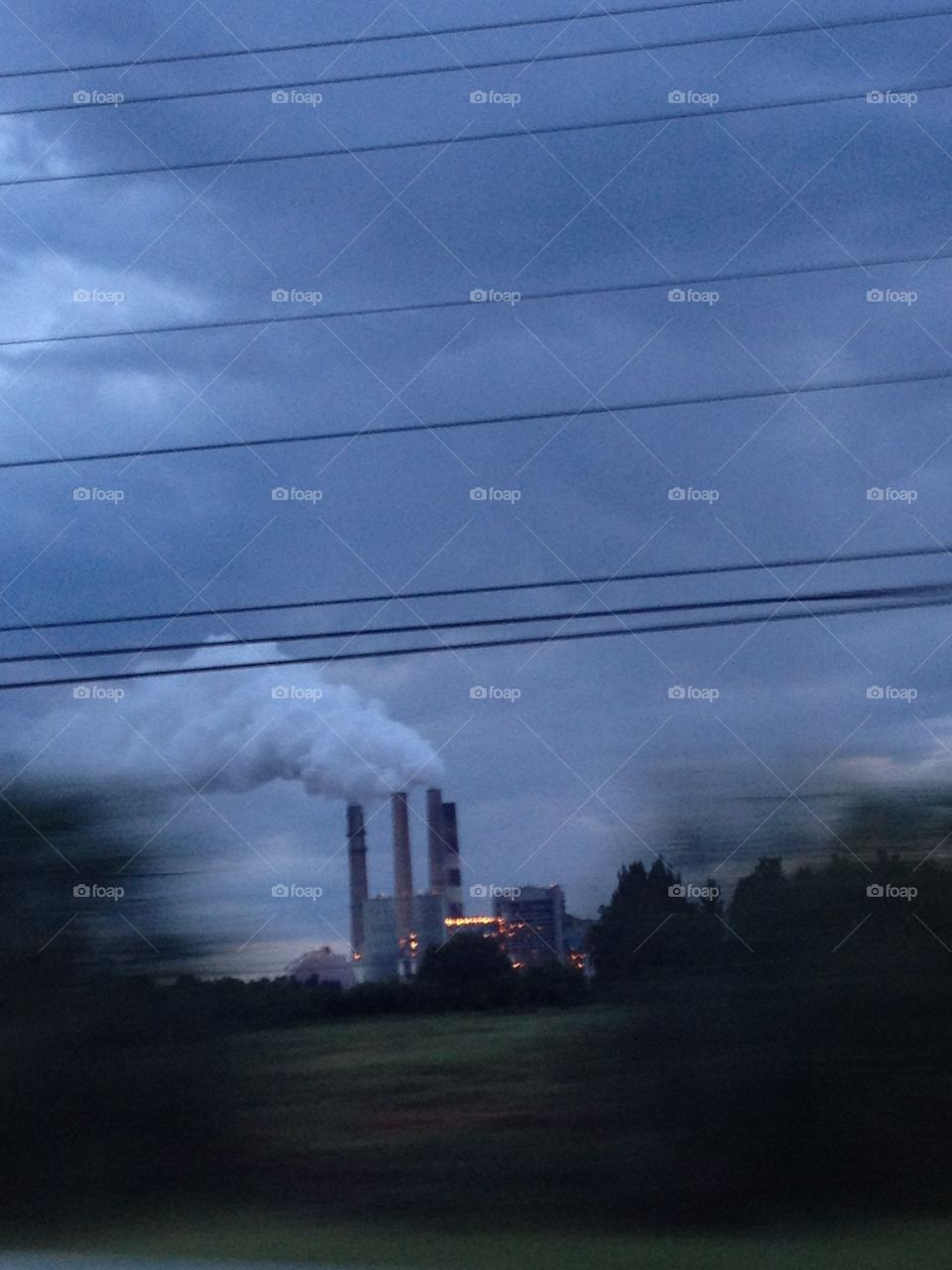 Zooming by the power plant