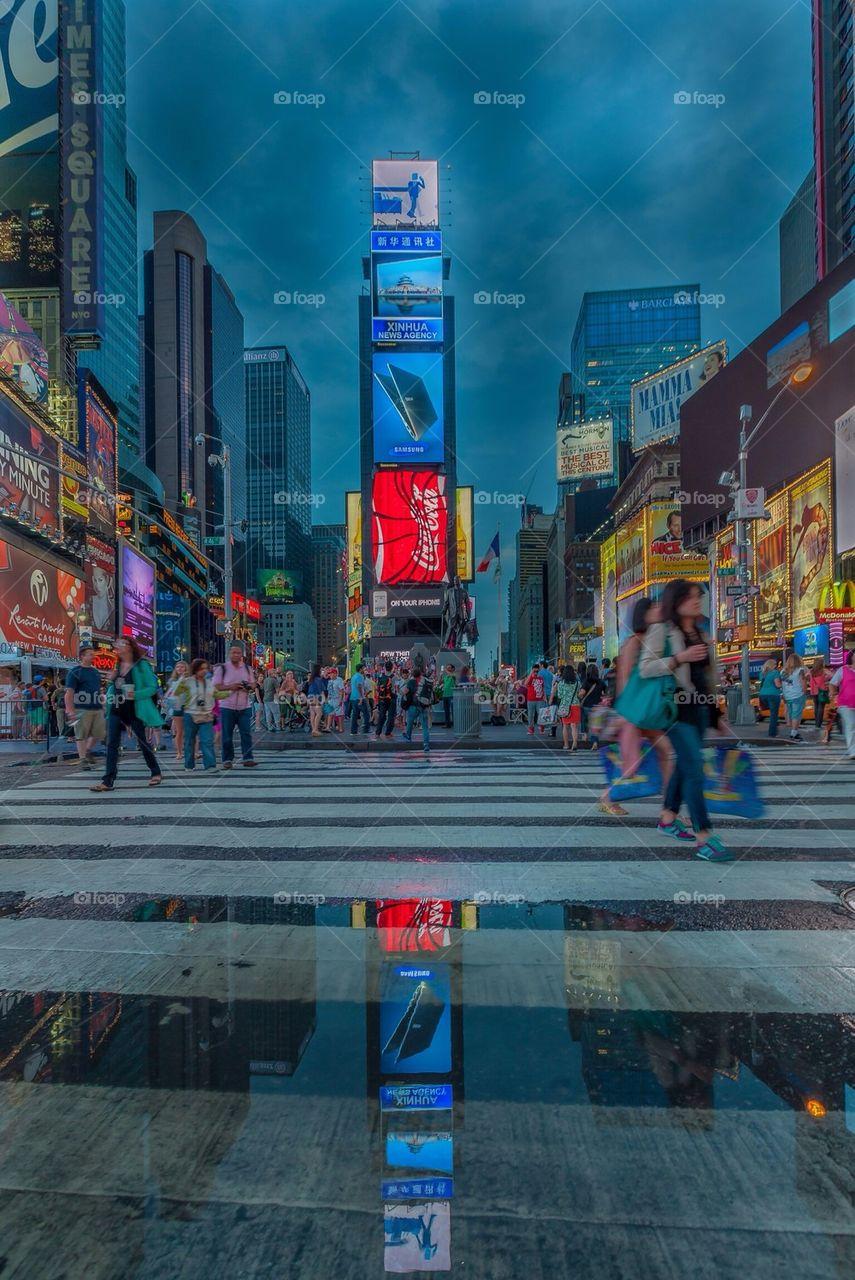 Reflective Times Square