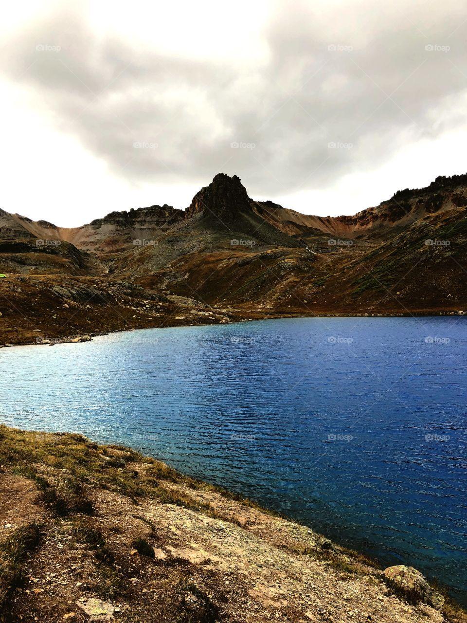 Blue high altitude lake