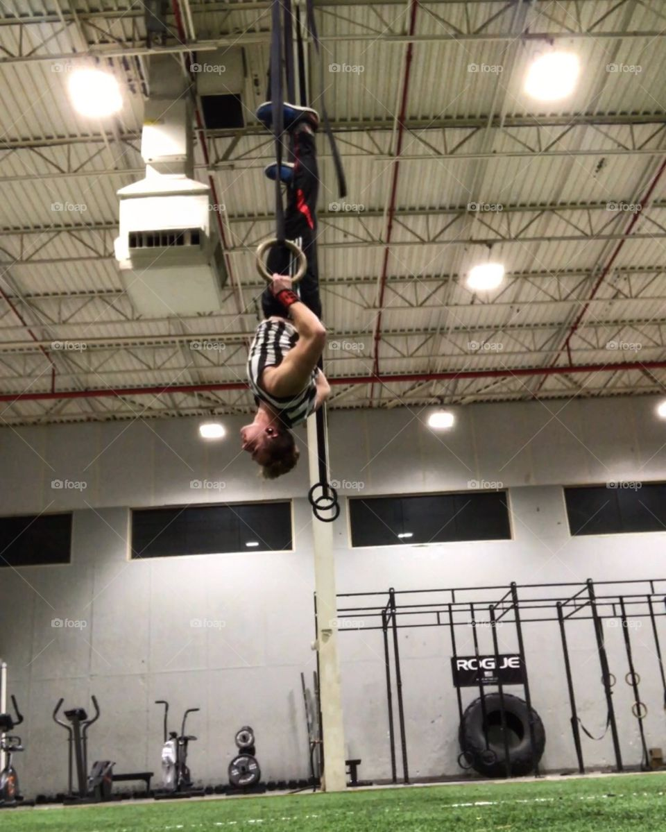 Gotta be a Spider-Man in every gym, someone has to hang upside down haha