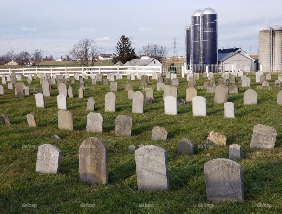 graveyard and silo