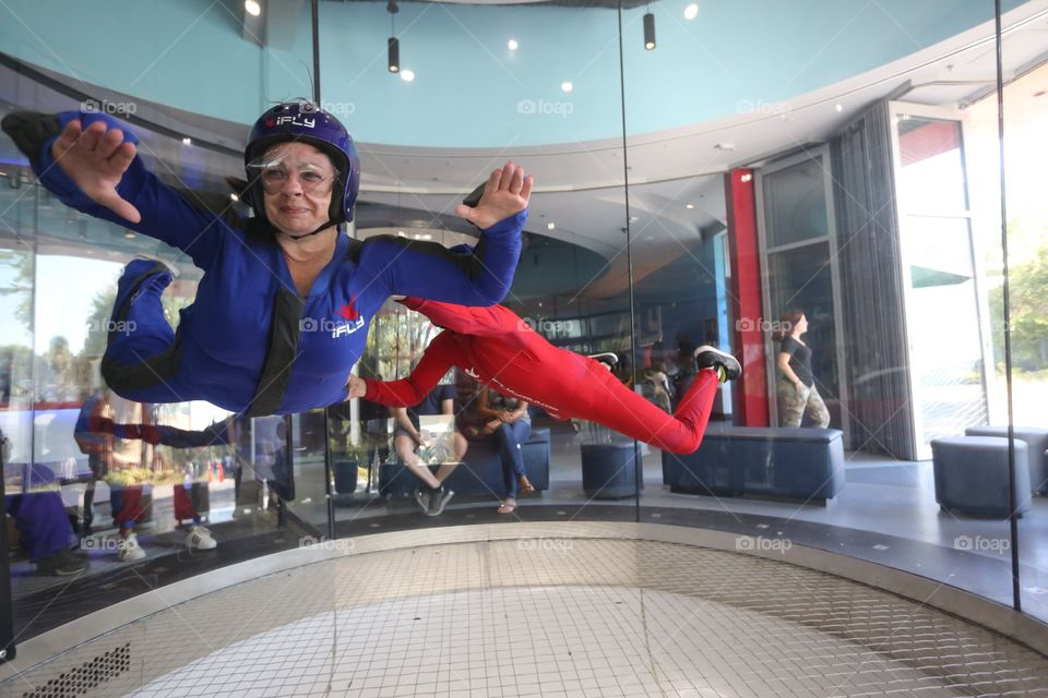 Staying in shape by flying at IFly