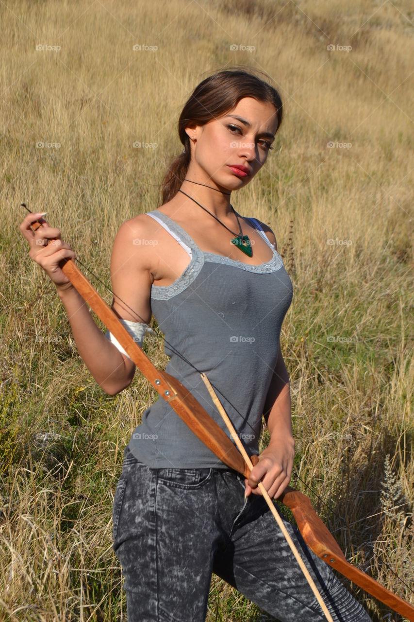 lara croft, young lady, pretty girl, hunter, beauty