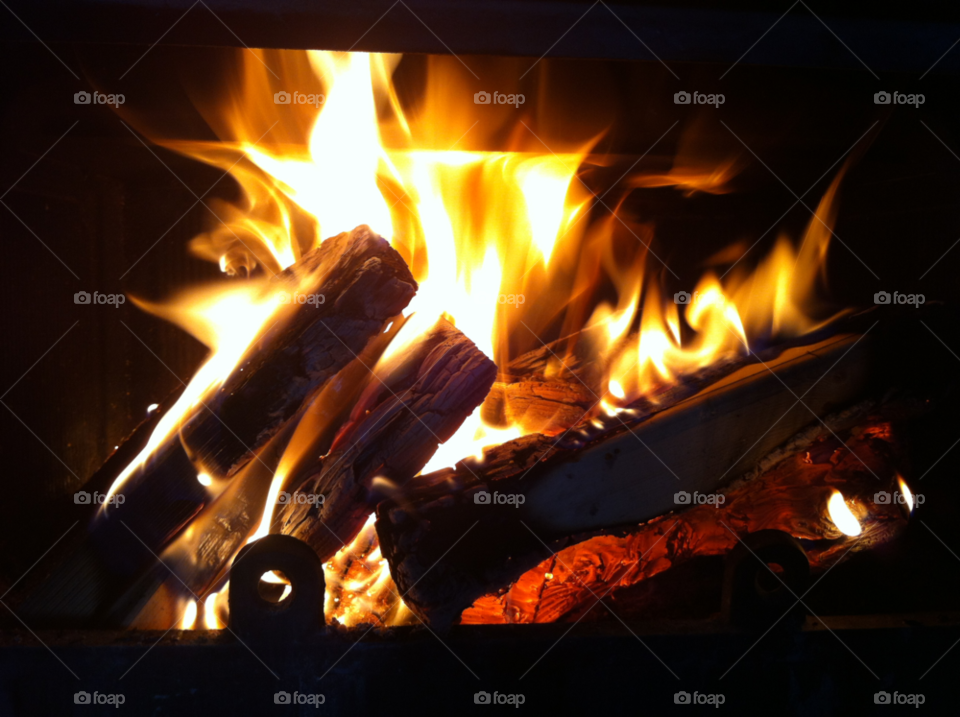hot fire warm stove by AnnOstby