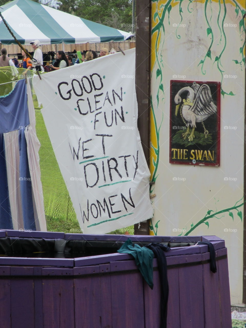 Good clean fun with wet dirty women sign at Renaissance Festival