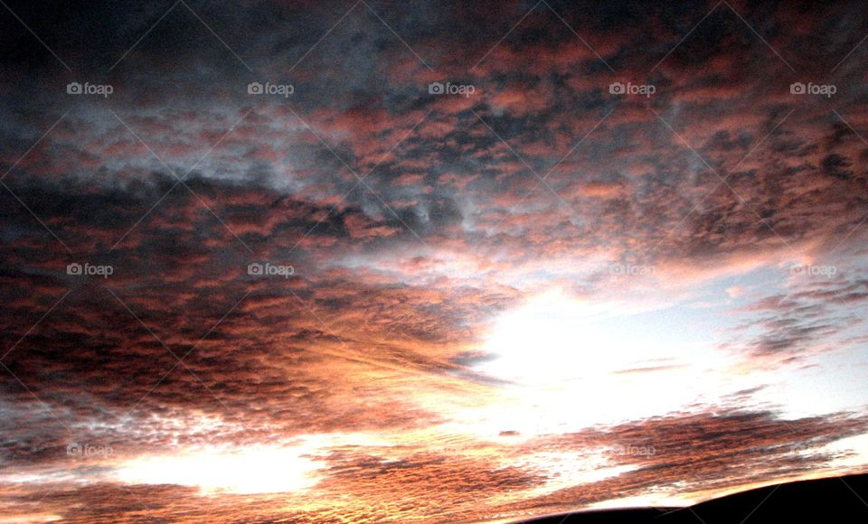 Mexican sunset . Mexican sky. Mexican Mountains