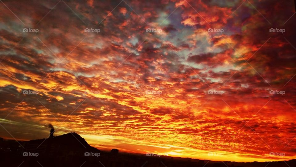 Dramatic sky during sunset