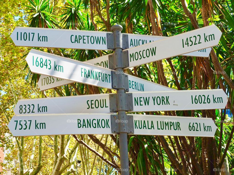 Mileage signs