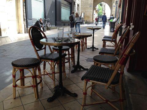 Café in Bordeaux, France