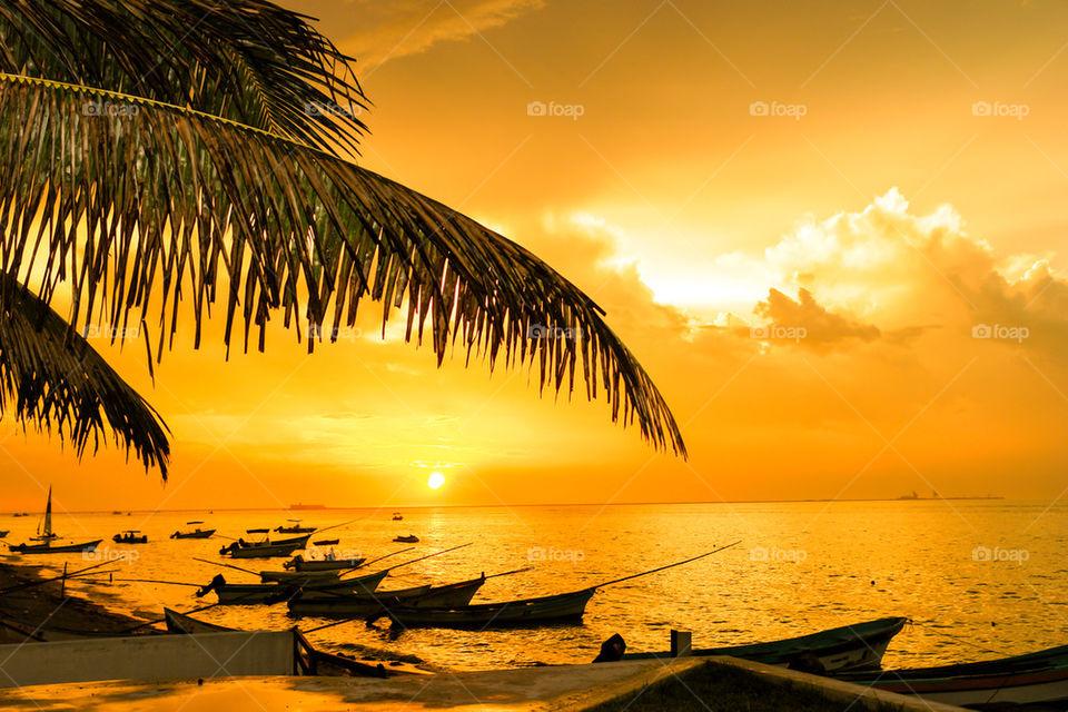 YUCATAN PENINSULA BEACH SUNSET